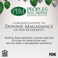 Peoples Bank Midwest: Donnie Magadance Retirement